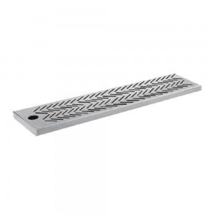 Bar mat ανοξείδωτο με σχάρα 70x14x2 cm