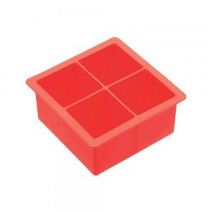 Καλούπι πάγου σιλικόνης για 4 κύβους 4,5 cm,11x11x4,5 cm