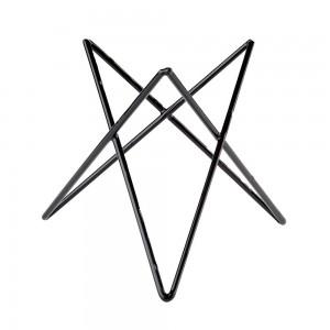 "Stand μπουφέ μεταλλικό, μαύρο,""Prisma"" 20 cm | 20 cm"