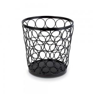 Stand μπουφέ μεταλλικό, μαύρο Basket 21/15 cm | 21 cm