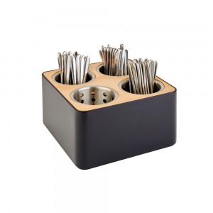 Organizer για μαχαιροπίρουνα 4 θέσεων 27x27 cm | 15 cm