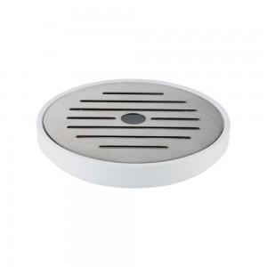 Δίσκος απόσταξης ανοξείδωτος με μελαμίνη λευκή APS 9,5 cm | 1,5 cm