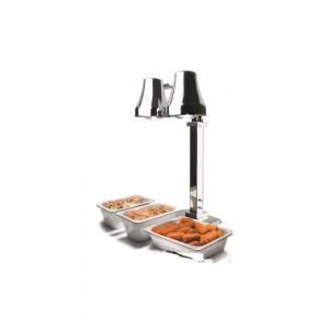 Λάμπα θέρμανσης buffet διπλή, inox 36x36 cm   76 cm, 550 W / 230 V