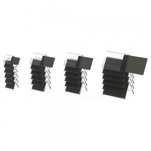 """Ακρυλικό stand """"λάμδα"""" 2 όψεων για κάρτα σήμανσης μπουφέ 6 τμχ. 9x14 cm"""
